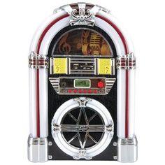 Pyle Bluetooth Retro Jukebox Mp3 Speaker System