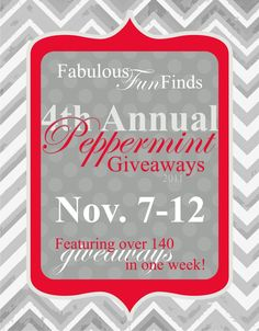 THE PEPPERMINT GIVEAWAYS HAVE STARTED!!!   http://www.fabulousfunfinds.com/2011/11/photographers-giveaway-peppermint.html