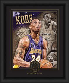 3a30aa96b16 Kobe Bryant Framed Justyn Farano Digital Print by ThatsMyTicket Kobe Bryant  24