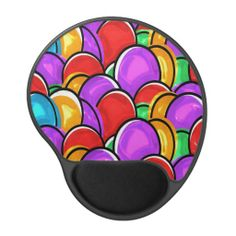 Colored Easter Eggs Gel Mouse Mats