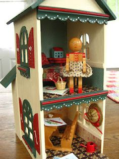 Dollhouse made and decorated by Piccalilli Days