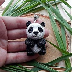 Panda bear necklace pendant jewelry panda totem от ViaLatteaArt