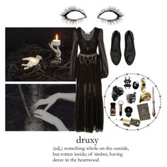 """The woods are lovely, dark and deep"" by missmoonchild ❤ liked on Polyvore featuring art"