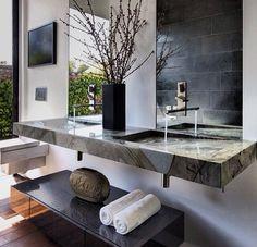 Luxury | #wash #modern #design #contemporary #naturalstone #toilets #finishes