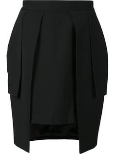 многослойная юбка-карандаш