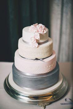 we ❤ this!  moncheribridals.com  #weddingcake #pastelweddingcake  #pinkandgraywedding