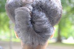Natural Hair gray grey silver hair
