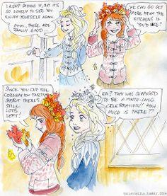 Anna and Elsa comic pt. 3 #Frozen