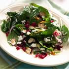 Effortless Spinach Salad - Try this tasty recipe from Ocean Spray. Aaron said he likes this-- even the Feta cheese. I put orange zest on it, but no orange juice this time. Cranberry Spinach Salad, Spinach Salad Recipes, Spinach And Feta, Easy Salad Recipes, Easy Salads, Healthy Recipes, Juice Recipes, Dinner Recipes, Savory Salads