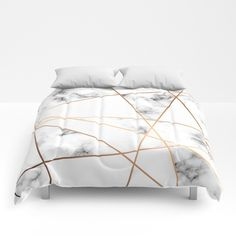 Marble Geometry 054 Comforters by BlueLela - Queen: x
