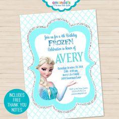 Frozen Party Invitation Printable - Frozen Birthday - Frozen Invitation -Thank You Note, Address Labels & Envelope Seals - Amanda's Parties