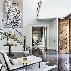 #foyer #art #abstract #door #architecture #lighting #luxe #interior #house #home…