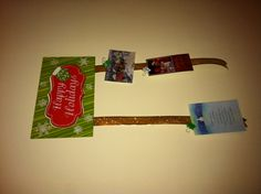 Christmas sign with ribbons glued at the bottom for hanging & displaying Christmas Cards - will eventually get clothes pins and probably them