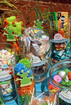"""Photo 24 of Space/aliens / Birthday """"Out of this World Birthday"""" Third Birthday, Birthday Party Favors, First Birthday Parties, Birthday Party Decorations, Alien Crafts, Little Monster Birthday, Alien Party, Space Aliens, Space Party"""