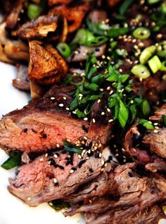 Grilled Kalbi Flank Steak--The whole family will enjoy this simple and delicious Korean recipe for grilled flank steak.