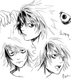death note, Light/L, yaoi / 【腐】デスノLOG⑤ - pixiv Death Note デスノート, Death Note Fanart, Manga Art, Manga Anime, L Lawliet, Arte Sketchbook, Anime Sketch, The Villain, Pretty Art