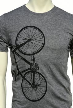 Bike Bicycle soft lightweight men's unisex soft T-shirt. Crew and V-neck on Etsy, $22.00