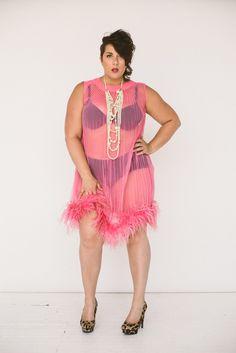 Vintage Hot Kiss Marabou Nightie - Re/Dress Online
