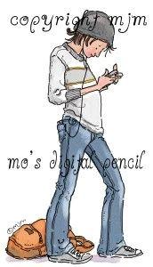 Mo's Digital Pencil - Paul Texting, $3.00 (http://www.mosdigitalpencil.com/paul-texting/)