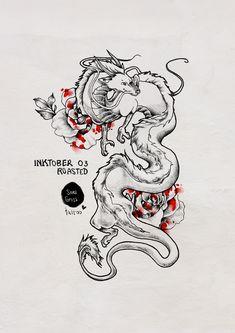 Chihiro tattoo proposal for inktober 2018 by sonigross_tattoo haku tattoo ghibli tattoo spirited away drawing soni Kunst Tattoos, Body Art Tattoos, Sleeve Tattoos, Tatoos, Ghibli Tattoo, Dragon Tattoo Sketch, Dragon Tattoo Designs, Art Drawings Sketches, Tattoo Sketches