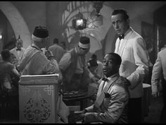 Bogart plays Rick Blaine owner of an Upscale Nightclub and Gambling Casino in Casablanca Africa.