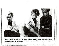 Pseudo Echo early days