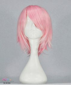 New style!!35cm short peach cosplay wig curly short hair anime wig light pink NO.NLW200 on Etsy, $16.99