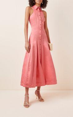 Frayed Cotton-Poplin Maxi Dress by Brandon Maxwell Cutout Dress, Holiday Dresses, Cotton Silk, Classy Outfits, Poplin, Beautiful Dresses, Ready To Wear, Short Dresses, Brandon Maxwell