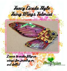 Kick your jewelry or OOAK polymer clay fairy doll sculpting up a notch. Step by step DIY filigree fairy wings tutorial from Elven Elysium! Polymer Clay Fairy, Polymer Clay Dolls, Doll Making Tutorials, Clay Tutorials, Arts And Crafts Projects, Clay Crafts, Wings Diy, Clay Fairies, Fairy Crafts
