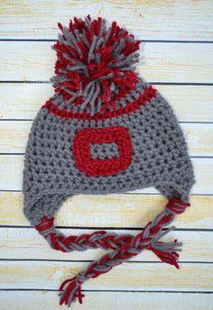 newborn crochet hat  OSU  Customize to your by SweetBabiesinYarn, $15.00