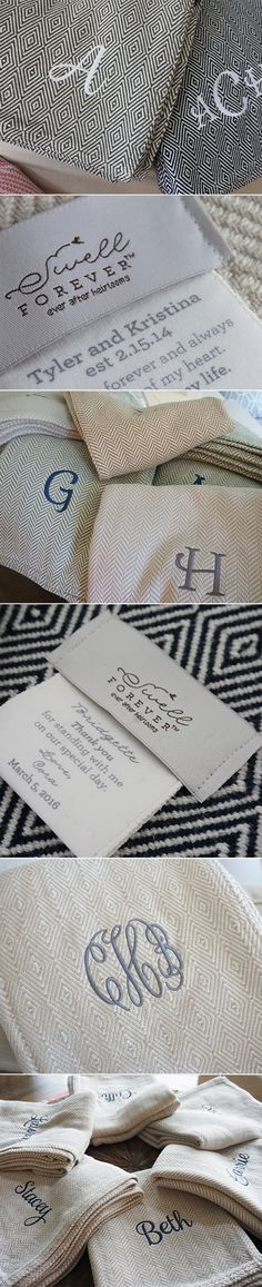 The perfect bridesmaid gift or wedding gift for couples! Also a sweet way to say thank you to the parents of the bride and groom. Forever Blanket {throws} by Swell Forever. American Made with personalized message tags customized to your wedding or special day. Monogramming available in a variety of colors and fonts. Each purchase benefits adoptive families and children in foster care. Bridal shower, matron of honor, maid of honor, unique wedding gift ideas. Unique bridesmaid gift ideas.