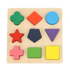 GYBBER&MUMU Wooden Preschool Shape Puzzle - Price: $7.99