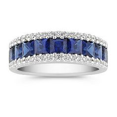 I wonder if it would be pretty to have a sapphire (my birthstone) wedding band... I would wear it on my right hand though