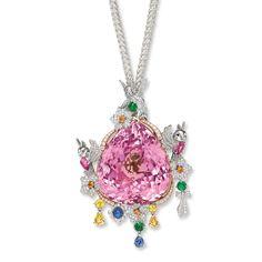 Kunzite, gem-set and diamond 'Fairyland' pendent necklace, Nisan