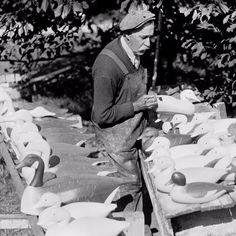 1930s folk art duck decoy carver.