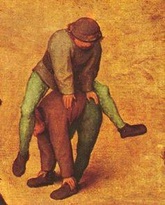 Children's Games (detail) by Pieter Bruegel, the Elder 1520-1569