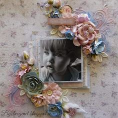 Sweet Little Girl Layout for Bella Paperie with Maja Vintage Baby Collection