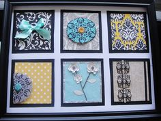 Frame your own artwork     http://twogirlsbeingcrafty.blogspot.com/2011/02/frame-your-own-artwork.html