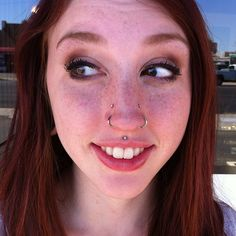 Haylee stopped by today to downsize her high nostrils. They look so cute on her! #htcbodypiercing #neometal #htcuptown