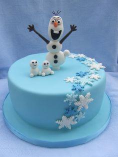 Frozen Theme Cake, Frozen Birthday Cake, Bolo Olaf, Reindeer Cakes, Olaf Cake, Christmas Cake Designs, Elsa Cakes, Cake Decorating Piping, Nautical Cake