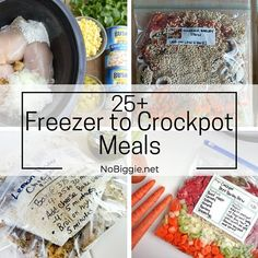 Crockpot meals 177258935316326716 - Before baby comes, stock the freezer with some easy crockpot meals. These are great for when baby first arrives or when you go back to work. Source by Slow Cooker Freezer Meals, Crock Pot Freezer, Freezer Cooking, Slow Cooker Recipes, Crockpot Meals, Cooking Recipes, Crock Pots, Meal Recipes, Recipies