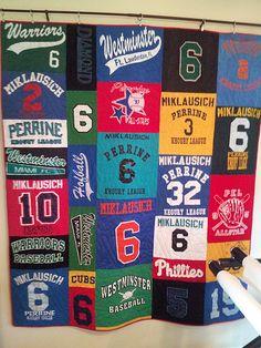 #Baseball Quilt #Tshirtquilt #SportsJerseyQuilt