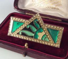 Vintage-Jewellery-Lovely-Art-Deco-Geometric-Pierre-Bex-Brooch-Pin
