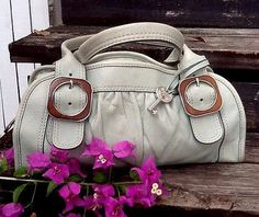 Fossil Fifty Four Mint Green Lthr Wood Accents Everyday Satchel w Key Free Gift   eBay