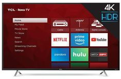 TCL Class Ultra HD HDR Roku Smart LED TV Search across top streaming channels with Roku Search. Free Roku remote app with Voice Search. Thousands of streaming channels. Tv Without Stand, Smart Tv Samsung, Samsung Uhd, Netflix Videos, Tv Videos, 55 Inch Tvs, 42 Inch, Tv Built In, Tecnologia