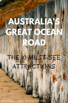 From wildlife to lighthouses, huge rocks to beaches & forests, here are the 10 must see Great Ocean Road attractions on 1 the world's most famous road trips Australia Travel Guide, Moving To Australia, Visit Australia, Western Australia, Australia Trip, Fishing Australia, Coast Australia, Iconic Australia, Melbourne Australia