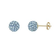 10K Yellow Gold 6.8MM Ball Swarovski Aqua Crystal Earrings for sale at Walmart Canada. Get Jewellery & Watches online for less at Walmart.ca
