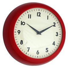 Brand New Retro Kitsch Vintage Kitchen Wall Clock, Red, Blue or Cream Cute Kitchen, Vintage Kitchen, Kitchen Ideas, Kitchen Inspiration, Red Kitchen Walls, Retro Dining Rooms, Red Wall Clock, Kitchen Wall Clocks, Cool Clocks