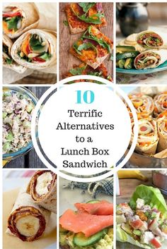 Switch up your sandwich routine using these 10 clever and healthy ideas for school lunch. Recipes on Mom's Kitchen Handbook