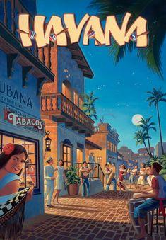 #Havana #Cuba #Travel Poster. TravelPhotoTours.com